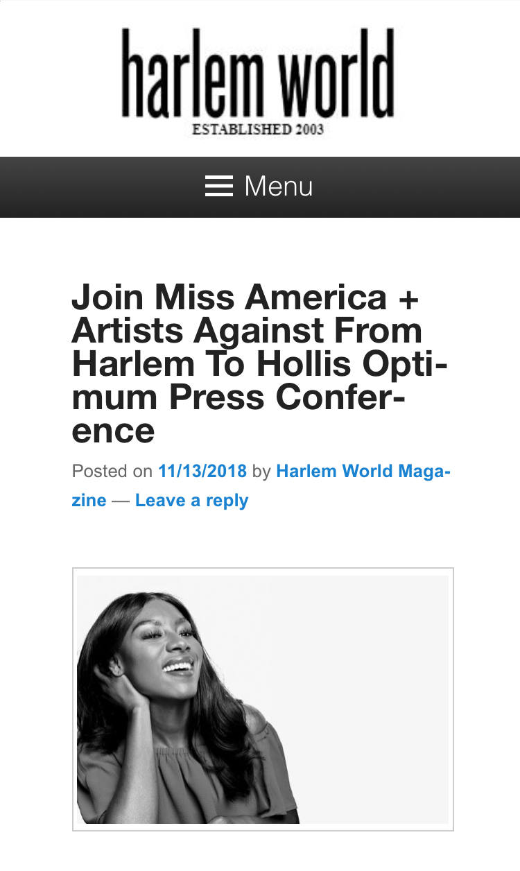 harlem magazine article